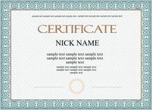 Diploma do certificado para a cópia Imagem de Stock