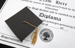 Diploma do HS fotos de stock royalty free