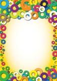 Diploma do jardim de infância do fundo da cor Foto de Stock Royalty Free