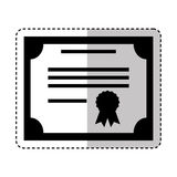 Diploma document isolated icon Royalty Free Stock Photos