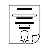 Diploma document isolated icon Stock Photography