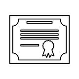 Diploma document isolated icon Stock Images