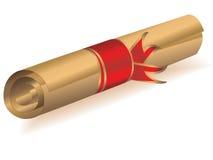 Diploma dourado ilustração do vetor