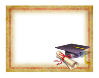 Diploma en blanco de la graduación ilustración del vector