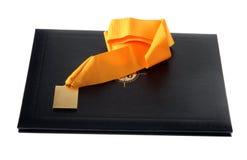 Diploma en medaille stock foto