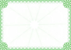 Diploma frame. Green frame You can use for diploma or certificate Royalty Free Stock Images