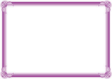 Diploma frame. Elegant frame for diploma or certificate Stock Images