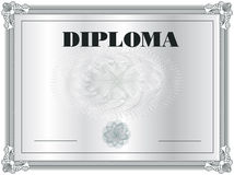 Diploma Frame Royalty Free Stock Photos
