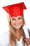 Diploma girl portrait Royalty Free Stock Photography