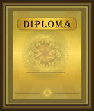 Diploma Gold Brown. Card template Royalty Free Stock Photo
