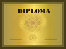 Diploma gold Frame Royalty Free Stock Image