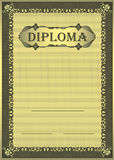 Diploma gold Frame ornament Royalty Free Stock Photography