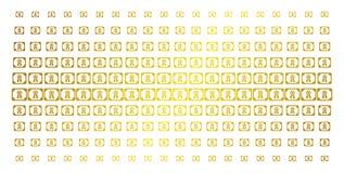 Diploma Gouden Halftone Matrijs vector illustratie