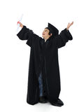 Diploma graduating little student kid Stock Photography