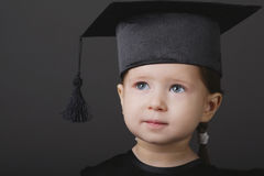 Diploma graduating little student kid Royalty Free Stock Photo