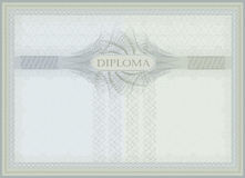 Diploma Guilloche blue green Royalty Free Stock Image
