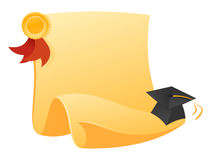 Diploma and hat Royalty Free Stock Photos