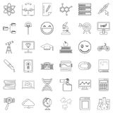 Diploma icons set, outline style Royalty Free Stock Image