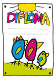Diploma for kids 1 Stock Photo