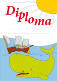 Diploma for kids 2 Royalty Free Stock Image