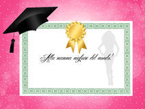 Diploma for mother Stock Photography