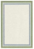 Diploma o certificado en blanco clásico con la frontera Imagen de archivo