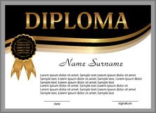 Diploma o certificado recompensa Ganar la competencia concesión Imagen de archivo