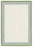 Diploma o certificato in bianco classico con il bordo Immagine Stock