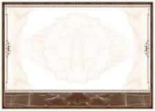Diploma ou beira em branco do certificado Foto de Stock Royalty Free