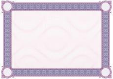 Diploma ou certificado em branco Imagem de Stock Royalty Free
