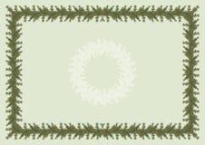 Diploma ou convite com árvore de Natal Foto de Stock