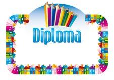 Diploma para crianças Foto de Stock Royalty Free