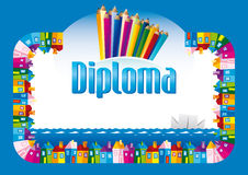 Diploma para los niños Foto de archivo