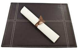 Diploma with portfolio Royalty Free Stock Photo