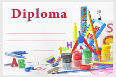 Diploma pré-escolar Fotografia de Stock