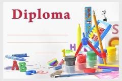 Diploma prescolare Fotografia Stock