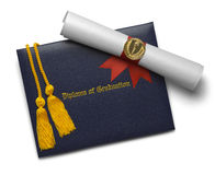 Diploma Scroll and Honor Cords Royalty Free Stock Image
