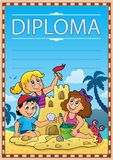 Diploma subject image 7. Eps10 vector illustration Stock Photography