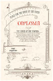 Diploma template Royalty Free Stock Photo