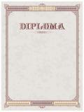 Diploma template Stock Photo