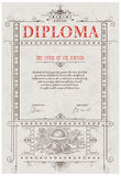 Diploma template Stock Photography