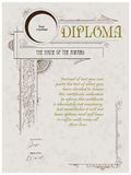 Diploma template Stock Photos