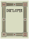 Diploma template Stock Images
