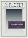 Diploma template Royalty Free Stock Photos