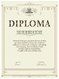 Diploma template Royalty Free Stock Images