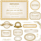 Diploma template with additional design elements Stock Photography