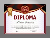 Diploma template. Elegant background. Winning the competition. R Royalty Free Stock Images