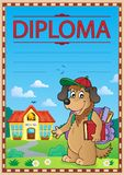 Diploma template image 8 Royalty Free Stock Photography