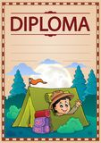 Diploma template image 2 Royalty Free Stock Images