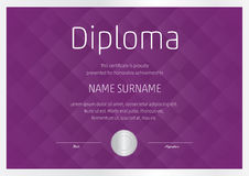 Diploma template  Royalty Free Stock Photography
